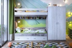 Кровать двухъярусная Юта 2 - Мебельная фабрика «ЯРОФФ»