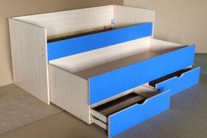 Кровать двуспальная детская - Мебельная фабрика «Крокус»