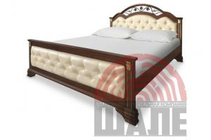 Кровать двуспальная Элизабет 2 - Мебельная фабрика «ВМК-Шале»
