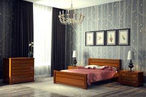 Кровать двуспальная Грация 2 - Мебельная фабрика «DM- darinamebel»