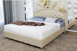Кровать двуспальная Кожа/жемчуг - Мебельная фабрика «Корвет»