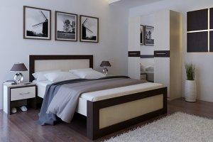 Кровать двуспальная  Норта - Мебельная фабрика «Мастер»