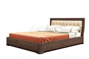 Кровать двуспальная с мягким изголовьем As28.761 - Мебельная фабрика «Астрон»