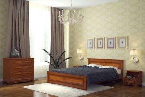 Кровать двуспальная Шарм - Мебельная фабрика «DM - DarinaMebel»