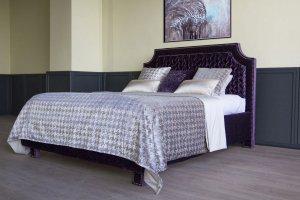 Кровать Дженифер с изящным изголовьем в новой технике буфов - Мебельная фабрика «Рой Бош»