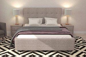 Кровать Джейн Серебристо-серый - Мебельная фабрика «Цвет диванов»