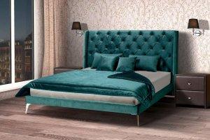 Кровать Edem с каретной стяжкой - Мебельная фабрика «Аргос»
