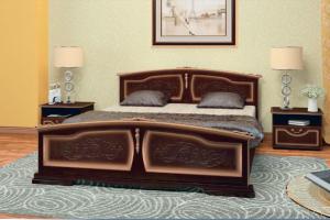 Кровать Елена орех темный - Мебельная фабрика «Bravo мебель»