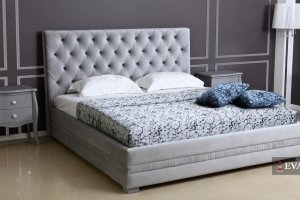 Кровать Elite с каретной стяжкой - Мебельная фабрика «EVANTY»