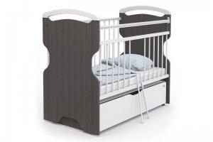 Кровать Эльза Wood графит - Мебельная фабрика «Атон-мебель»