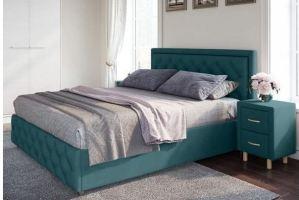 Кровать Габриэла с каретной стяжкой - Мебельная фабрика «Лазурит»