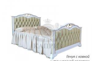 Кровать Генуя с ковкой и золотой тонировкой - Мебельная фабрика «Каприз»