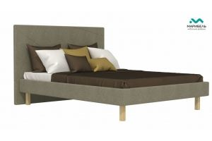 Кровать Геометрия на ножках - Мебельная фабрика «МАРИБЕЛЬ»