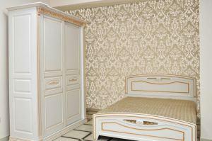 Кровать и шкаф-купе Елизавета МДФ ПВХ - Мебельная фабрика «Прометей»