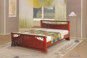 Кровать из дерева Стиль 1 - Мебельная фабрика «Альянс 21 век»