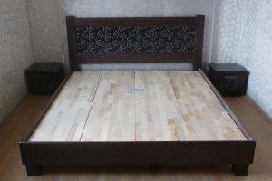 Кровать из массива бука Модерн - Мебельная фабрика «BORA FASAD»