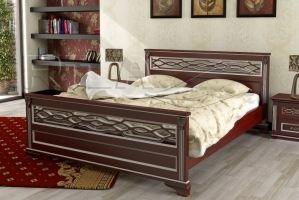 Кровать из массива дерева Lirоna 2 - Мебельная фабрика «Rila»