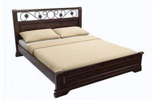 Кровать из массива Flora Dark Venge - Мебельная фабрика «Askona»