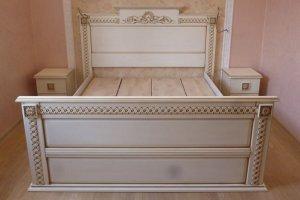 Кровать из массива ясеня - Мебельная фабрика «BORA FASAD»