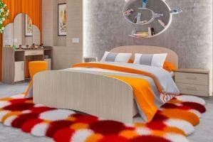 Кровать ЛДСП К 140 - Мебельная фабрика «Пирамида»