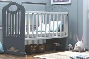 Кровать-качалка Сказка Серая КСК-6 - Мебельная фабрика «Феалта»