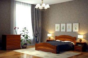Кровать классическая Сказка - Мебельная фабрика «DM- darinamebel»