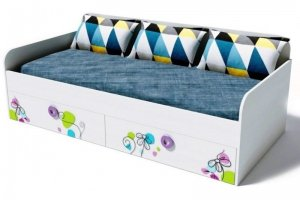 Кровать коллекции мебели Цветы-6 - Мебельная фабрика «Династия»