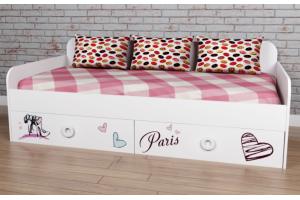 Кровать коллекции мебели Модница-6 - Мебельная фабрика «Династия»