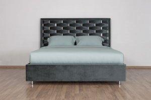 Кровать красивая темная Twist - Мебельная фабрика «Strong»