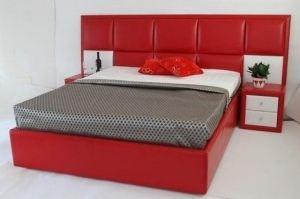 Кровать красная Палермо Люкс - Мебельная фабрика «Арнада»