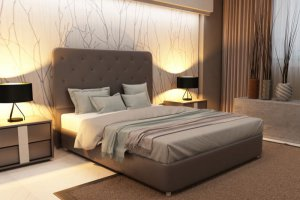 Кровать Kristi с изящным изголовьем - Мебельная фабрика «Strong»