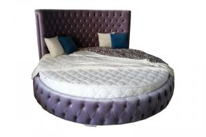 Кровать круглая в каретной стяжке - Мебельная фабрика «ChesterStyle»