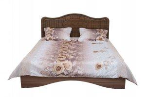кровать Купидон орех с патинированием - Мебельная фабрика «Премиум»