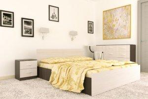 Кровать ЛДСП спальная - Мебельная фабрика «Рестайл»