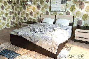 Кровать ЛДСП Фиеста двуспальная - Мебельная фабрика «Антей»