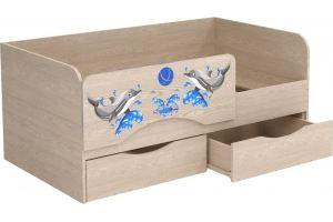 Кровать ЛДСП фотопечать Дельфины 1 - Мебельная фабрика «Милайн»