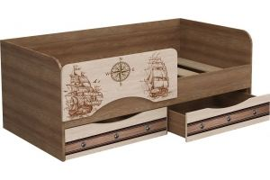 Кровать ЛДСП фотопечать Корабли 1 - Мебельная фабрика «Милайн»