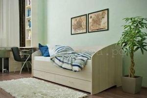 Кровать ЛДСП со спинкой и ящиками - Мебельная фабрика «Веста»