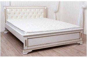 Кровать Лира с мягкой вставкой - Мебельная фабрика «Святогор Мебель»