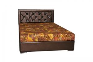 Кровать коричневая Люкс - Мебельная фабрика «ПРАВДА-МЕБЕЛЬ»
