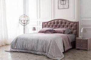 Кровать Мария в каретной стяжке - Мебельная фабрика «Уют»