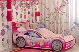 Кровать машина Девочка и Слоник - Мебельная фабрика «Red River»