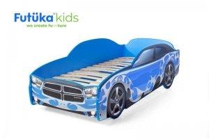 Кровать-машина Додж синий - Мебельная фабрика «Футука Кидс»