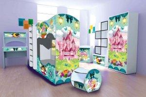 Кровать машина Двухъярусная Принцесса - Мебельная фабрика «МК Массмебель»