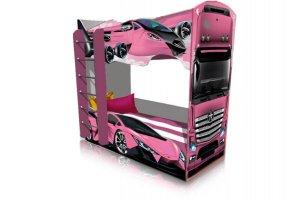 Кровать-машина Двухъярусная Спорт 4.0 Розовая - Мебельная фабрика «МК Массмебель»
