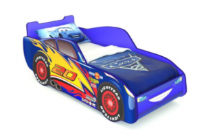 Кровать машина МАКВИН синяя - Мебельная фабрика «Мебель Мечты»