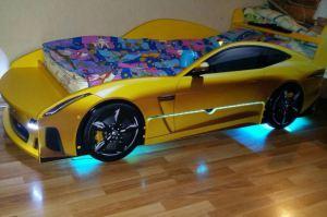 Кровать-машина с подсветкой - Мебельная фабрика «ПМК ВиП»