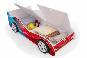 Кровать-машина Спайдер-Мен с ящиками - Мебельная фабрика «Мебель Мечты»