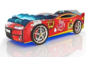 Кровать-машинка Romack Kiddy красная бум - Мебельная фабрика «Romack Möbel»