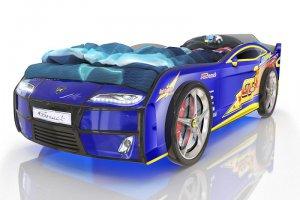 Кровать-машинка Romack Kiddy Синяя молния - Мебельная фабрика «Romack Möbel»